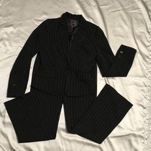 My Michelle Black Pin Striped 2pc Suit